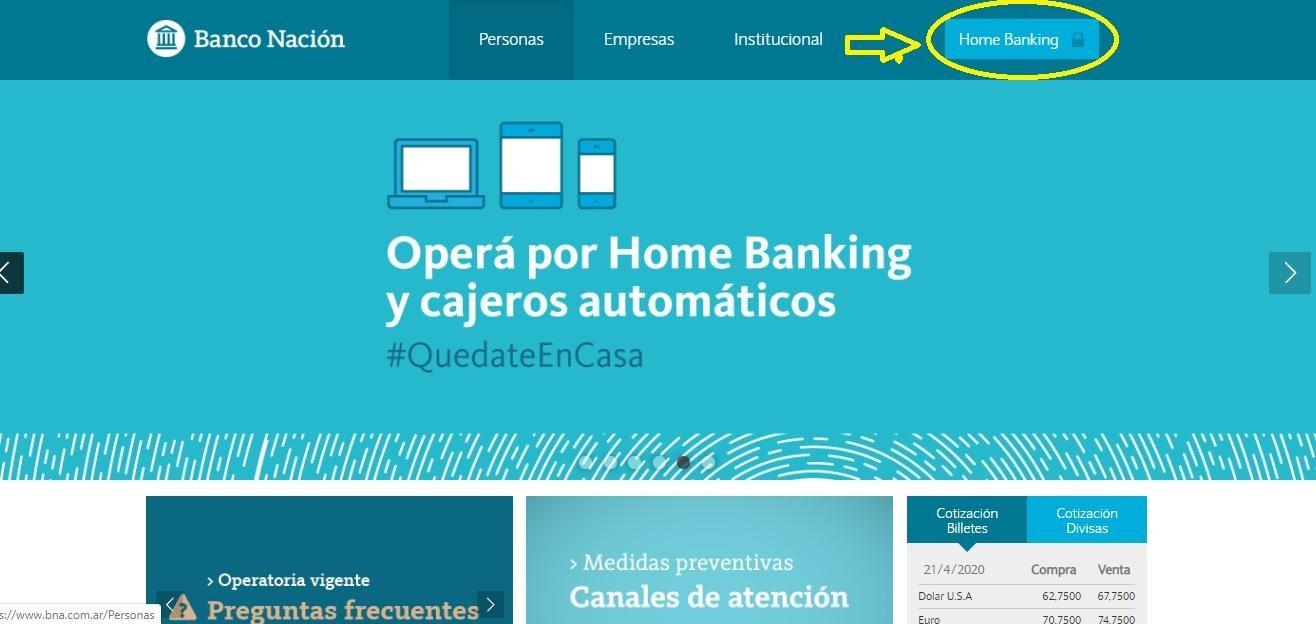 ¿Cómo Ingresar En Home Banking Nación Para Personas?