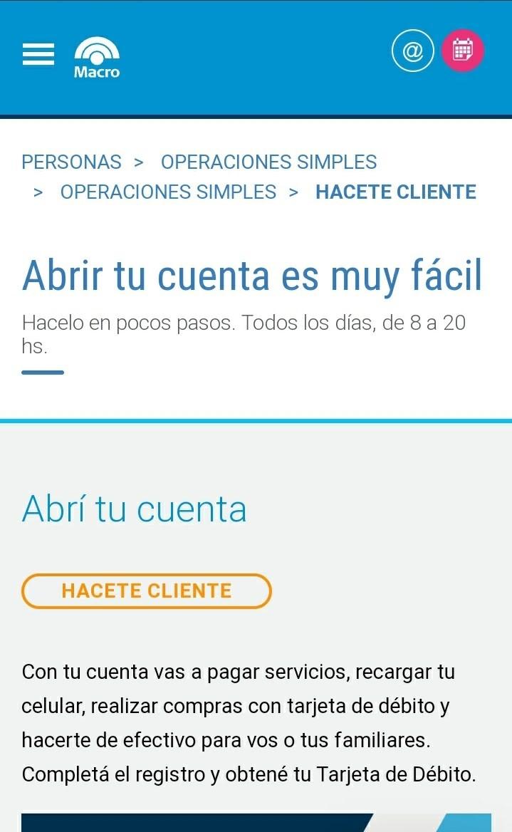Cómo Crear Cuenta Corriente En Banco Macro Online